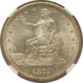 Trade Dollars: , 1874-S T$1 MS61 NGC. NGC Census: (66/128). PCGS Population(56/173). Mintage: 2,549,000. Numismedia Wsl. Price for problem ...