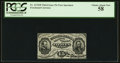 Fractional Currency:Third Issue, Fr. 1272SP 15¢ Third Issue Narrow Margin Face PCGS Choice About New 58.. ...