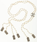Luxury Accessories:Accessories, Chanel Faux Pearl Suspenders . ...