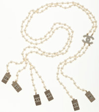 Chanel Faux Pearl Suspenders