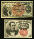 Fractional Currency:Fifth Issue, Fr. 1265 10¢ Fifth Issue Very Fine+;. Fr. 1307 25¢ Fourth IssueFine-Very Fine.. ... (Total: 2 notes)