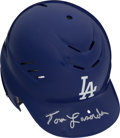 Baseball Collectibles:Hats, Tommy Lasorda Signed Los Angeles Dodgers Batting Helmet. ...