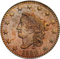 Proof Large Cents, 1829 1C Bronzed, Large Letters PR64 Brown PCGS. N-6, R.6 as aProof. Our EAC Grade PR61....