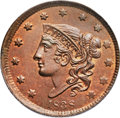 1838 1C MS65 Red and Brown PCGS. N-6, R.1. Our EAC Grade MS63....(PCGS# 37196)
