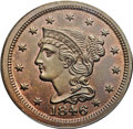 Large Cents, 1846 1C Small Date MS64 Brown PCGS. N-15, High R.4. Our EAC Grade MS64....