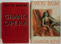 Books:Fiction, Vicki Baum. Two (2) UK First Editions, including: Grand Opera. London: Geoffrey Bles, 1942. [and:] Marion Aliv... (Total: 2 Items)