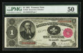 Large Size:Treasury Notes, Fr. 350 $1 1891 Treasury Note PMG About Uncirculated 50.. ...