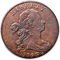 Large Cents, 1799/8 1C VF25 PCGS. S-188, B-2, R.4. Our EAC Grade Fine 15. ...
