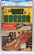 Golden Age (1938-1955):Horror, Vault of Horror #12 (#1) (EC, 1950) CGC VG- 3.5 Off-white pages....