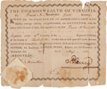 Books:Americana & American History, Patrick Henry Militia Appointment Signed...