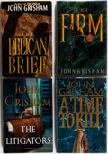 Books:Mystery & Detective Fiction, [John Grisham]. Four John Grisham Novels (Two Signed) includingA Time to Kill, The Firm, The PelicanBrief,... (Total: 3 Items)