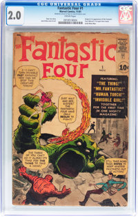 Fantastic Four #1 (Marvel, 1961) CGC GD 2.0 Cream pages