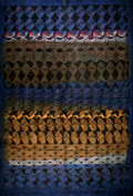 "Tribal Art, [IRS Records, Miles Copeland] Hand Printed Fabric Wall Hanging.Potato-printed cotton by Kudhinda, Zimbabwe. 29"" x 40.5"". Fi..."