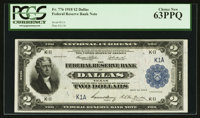 Fr. 776 $2 1918 Federal Reserve Bank Note Serial Number 1 PCGS Choice New 63PPQ
