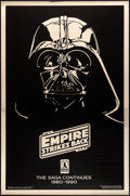 """Movie Posters:Science Fiction, The Empire Strikes Back (Kilian, R-1990). Mylar One Sheet (27"""" X41"""") Tenth Anniversary Gold Darth Vader Advance Style. Scie..."""