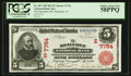 National Bank Notes:New Jersey, Metuchen, NJ - $5 1902 Red Seal Fr. 587 The Metuchen NB Ch. # (E)7754. ...