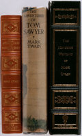 Books:Literature Pre-1900, [Mark Twain]. Three Works by Mark Twain including The Adventuresof Tom Sawyer, The Adventures of Huckleberry Finn, ...(Total: 3 Items)