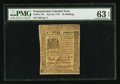 Colonial Notes:Pennsylvania, Pennsylvania July 20, 1775 20s PMG Choice Uncirculated 63 EPQ.. ...