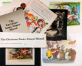 Books:Original Art, Garth Williams. Group of Ephemeral Items Related to The Christmas Santa Almost Missed. Originally published by Fami...