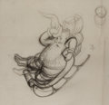 Books:Original Art, Garth Williams. Original Sketch of Santa Claus From The Christmas Santa Almost Missed. Published by Family Circle...