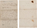 Books:Americana & American History, Union Soldier's War-dated Letters (2).... (Total: 2 Items)