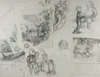 Garth Williams. Original Sketches From The Christmas Santa Almost Missed. Published by Family C