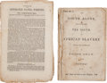 Books:Americana & American History, [Slavery]. Two Imprints on Slavery,... (Total: 2 Items)