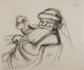 Books:Original Art, Garth Williams. Original Sketch of Santa Claus. From The Christmas Santa Almost Missed published by Family Circle De...