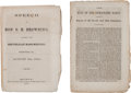 Books:Americana & American History, [1860 Presidential Campaign]. Two Imprints.... (Total: 2 Items)