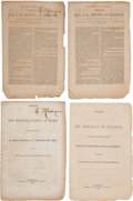 Books:Americana & American History, [California Admission]. Four Imprints of Senate Speeches on theAdmission of California as a State,... (Total: 4 Items)