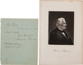 Autographs:U.S. Presidents, Millard Fillmore Autograph Letter Signed.... (Total: 2 Items)