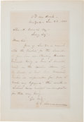 Autographs:Military Figures, William T. Sherman Autograph Letter Signed...