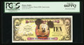 Miscellaneous:Other, Disney Dollar 2008 $10 Mickey Mouse 80th Anniversary. PCGS Gem New66PPQ.. ...