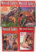 Pulps:Horror, Weird Tales Group (Popular Fiction, 1928-31) Condition: AverageGD/VG.... (Total: 4 Comic Books)
