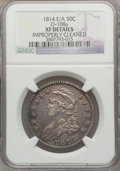 Bust Half Dollars, 1814/3 50C E/A -- Improperly Cleaned -- NGC Details. XF. O-108a.NGC Census: (9/70). PCGS Population (16/96). Numismedia ...