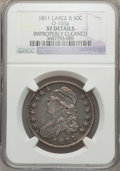 Bust Half Dollars: , 1811 50C Large 8 -- Improperly Cleaned -- NGC Details. XF Details.O-103a. NGC Census: (30/796). PCGS Population (26/291)....