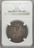 Bust Half Dollars, 1811/10 50C VF30 NGC. O-101. VF Details. NGC Census: (0/362). PCGSPopulation (7/138). Numismedia Wsl. Price for problem ...