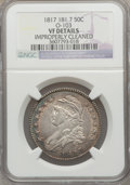 Bust Half Dollars: , 1817 50C 181.7 -- Improperly Cleaned -- NGC Details. VF Details.O-103. NGC Census: (0/20). PCGS Population (3/55). ...