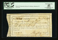 Colonial Notes:Connecticut, Connecticut Interest Certificate March 28, 1792 Cut Cancel PCGS Apparent Extremely Fine 45.. ...
