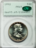 Proof Franklin Half Dollars: , 1952 50C PR65 PCGS. CAC. PCGS Population (1144/716). NGC Census:(686/1164). Mintage: 81,980. Numismedia Wsl. Price for pro...