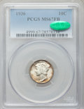 1936 10C MS67 Full Bands PCGS. CAC. PCGS Population: (271/20). NGC Census: (112/11). CDN: $350 Whsle. Bid for problem-fr...