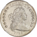Early Dollars, 1798 $1 Large Eagle, Pointed 9, Close Date -- Improperly Cleaned --NGC Details. AU. B-25, BB-123, R.4....