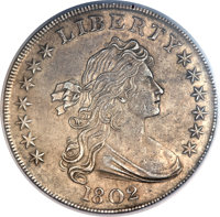 1802 $1 Narrow Date -- Improperly Cleaned -- NCS. AU Details. B-6, BB-241, R.1....(PCGS# 6895)