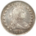 Early Dollars, 1796 $1 Small Date, Small Letters VF30 ANACS. B-1, BB-66, R.4....
