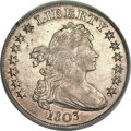 Early Dollars, 1803 $1 Small 3 AU55 PCGS. B-5, BB-252, R.3....