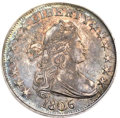 Early Half Dollars, 1806 50C Pointed 6, No Stem AU50 PCGS. O-109, R.1....