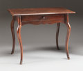 Furniture : French, A FRENCH PROVINCIAL MAHOGANY TABLE. 19th century. 26-1/2 x 34 x22-3/8 inches (67.3 x 86.4 x 56.8 cm). ...