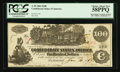 Confederate Notes:1862 Issues, J.H. Childrey Ad Note T39 $100 1862.. ...