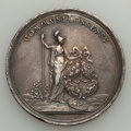 Betts Medals, Betts-608. 1783 Peace of Versailles. Silver, plugged. VF. ...
