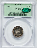 Proof Seated Dimes, 1882 10C PR66 PCGS. CAC. Fortin-101....